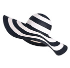Black and White Women's Beach Sunshade Sunscreen Hat Mix Color ultraviolet-proof