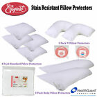 Stain Resistant Pillow Protectors by Easyrest - Choose Size from Standard V Body