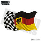 Germany Racing Checkered Flag Decal German Race Car Gloss Vinyl Sticker (LH) H1G
