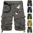 Multi-Pocket Camouflage Shorts Mens Shorts Combat Camo Work Cargo Trousers Pants