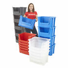 Plastic Parts Storage Picking Bins 50L Containers Strong Stacking Box 4 Colours