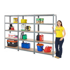 3 Bay Shelving Garage Racking 5 Tier 175kg UDL Storage Heavy Duty Workshop Unit