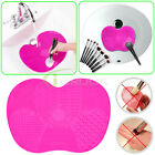 Silicone Makeup Eye Face Brush Cleaning Mat Cleaner Pad Washing Plate Hand Tool