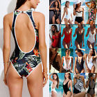 Hot Women Bikini Bathing Swimwear One Piece Swimsuit Monokini Push Up Padded FO