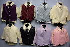 Baby Babies Childrens Four 4 Piece Waistcoat Suit Set Christening Page Boy Smart