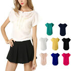 Fashion Predecessor Carved Women Casual Short Sleeve Summer Chiffon T-shirt Tops