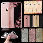 Bling Glitter Crystal Rubber Soft Silicone Case Cover for Apple iPhone 6S 7 Plus