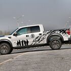 1set/2pcs Car pickup Truck Army Brothers Graphics Side Decal Body Style Sticker