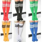 Football Knee-high Striped Socks Classic Natural Color Socks Men Elastic TXCL01