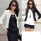 New Women Korean Fashion Lady Long Sleeve Shrug Suits Blazer Short TXCL01