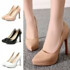 Womens Slip On Dress Court Casual Shoes Ladies High Heels Pointy Toe Pumps Shoes