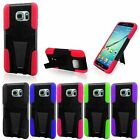 For Samsung Galaxy S6 Edge+ Plus G928 Hybrid Armor Skin Hard Case Stand Cover