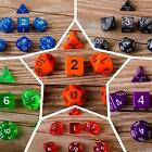 7Pcs Lot Novelty Multi Sided Dice Gaming D4-D20 For RPG Game Playing 5Colors Q