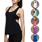 Womens Fitness Shirt Sports Gym Vest Active Stretch Dri-fit Workout Tank Top