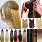 Long Real Straight Curly Wire Headband One Piece Clip in on Hair Extensions UK