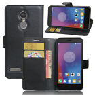 """For 5.0"""" Lenovo K6 Phone Luxury PU Leather Protective Cover Build in Back Case"""
