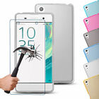 GENUINE TEMPERED GLASS SCREEN PROTECTOR COVER & GEL CASE FOR ALL SONY EXPERIA