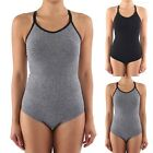 Seamless Adjustable Spaghetti Strap Cross Back Bodysuit Nylon Spandex ONE SIZE