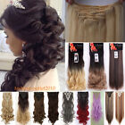 Deluxe 8Pcs Clip in 100% Hair Extensions Straight Real Thick As Human Tape TO2