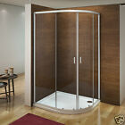 New Quadrant Shower Enclosure & Tray & Waste Walk In Corner Cubicle Glass Door