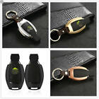 Hot Remote Car Key Fob Case Aluminum Cover Protector Genuine Leather Key Holder