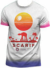 STAR WARS ROGUE ONE Scarif AT-AT White T-SHIRT ALL OVER PRINT OFFICIAL MERCH
