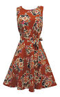 New Ladies Floral Retro WWII Wartime 1930's 1940's style Tea Dress