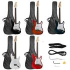 "39.37"" Beginner Sunset Electric Guitar +Bag Case +Cable +Str"