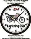 1965 BSA LIGHTNING 650 MOTORCYCLE WALL CLOCK-FREE USA SHIP!-Triumph, Ducati $26.99 USD