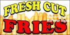 (CHOOSE YOUR SIZE) Fresh Cut Fries  DECAL Concession Food Truck Vinyl Sticker