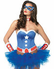 American Hero Comic Book Superhero Adult Costume Kit