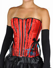 Plus Size Red Black Satin Boned Ruffle Corset Bustier Holiday Costume XL-2XL