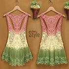 Sexy Women Lace Crochet Hollow Bikini Cover Up Beach Swimwear Tank Dress Tops %#