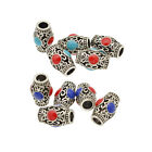 5 Pcs Set  Enamel Tube Dreadlock Dread Beads Hair Accessories Jewelry 6mm Hole