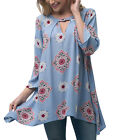 Andree By Unit Ladies Mock neck printed medallion top