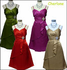 Cherlone Ballgown Prom Ball Evening Wedding Bridesmaid Knee Length Dress Size 14