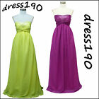 dress190 PURPLE/YELLOW LONG SPARKLY CORSET PARTY BRIDESMAID EVENING GOWN DRESS