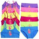 6 Sets Girls Seamless Spaghetti Straps Bras & Bikinis Flower Princess #8539S S~L