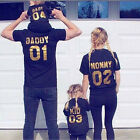 Dad Mom Kid Baby Family Matching Outfits Shirt Blouse Tops Tee Clothes Clothing