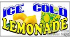 (CHOOSE YOUR SIZE) Ice Cold Lemonade DECAL Concession Food Truck Vinyl Sticker