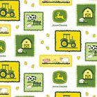 JOHN DEERE farm scene patches  100% LICENSED cotton  : by the 1/2 metre