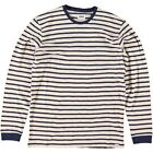 Edwin Tokyo Blues Long Sleeve Striped T Shirt Off White Navy