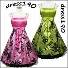 dress190 Floral 50s Rockabilly Cocktail Swing Prom Ball Evening Party Dress