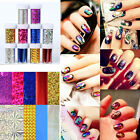 Holographic Nail Foils Nail Art Transfer Sticker Starry Sky Glitter Paper Decor