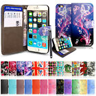 Flip Leather Wallet Book Case Cover Pouch For Various Mobile Phone+ Free Stylus