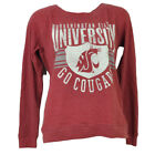 NCAA Washington State Cougars Red Thermal Long Sleeve Womens Ladies Pullover