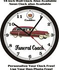 1952 SUPERIOR-CADILLAC FUNERAL COACH WALL CLOCK-FREE USA SHIP!