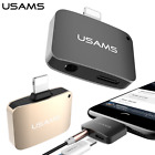 USAMS 2 in 1 Lightning to 3.5mm AUX Adapter Charger Cable For iPhone 7 / 7 plus