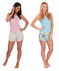 Womens Shorts Vest Top Pj Set Ladies Loungewear Pyjamas Nightwear New Size 8-22