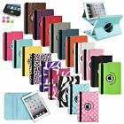 For iPad Mini 1 2 3 Retina 360 Rotating Leather Case Smart Stand Cover+Sticker